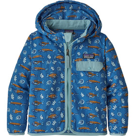 Patagonia Baggies Veste Enfant, fishies in the swamp/bayou blue